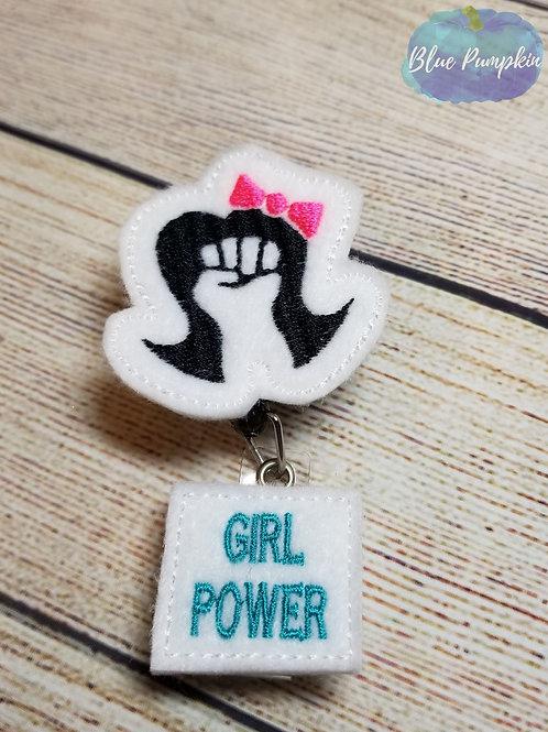 Girl Power Badge Reel Feltie Design