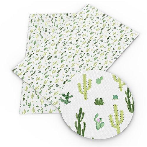 Cactus Print Embroidery Vinyl
