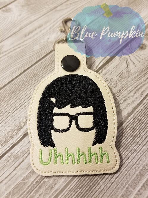 Tina Uhh Snap Key Fob