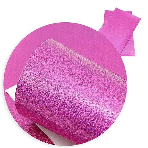 Bright Pink with Irrid Sparkles Embroidery Vinyl