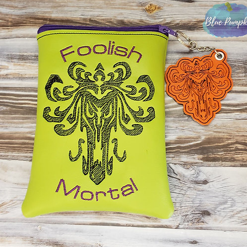 Foolish Mortal Bag ITH Zipper Bag Design