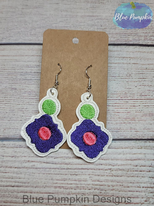 Circle Flower Stacked Earrings