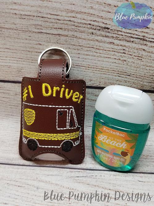 Brown Truck Hand Sanitizer Holder