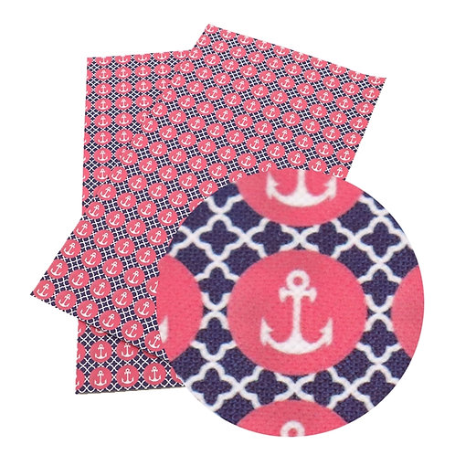 Anchors with Pink and Blue Embroidery Vinyl