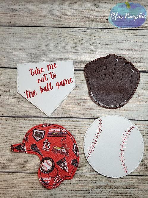 Baseball Coaster Set