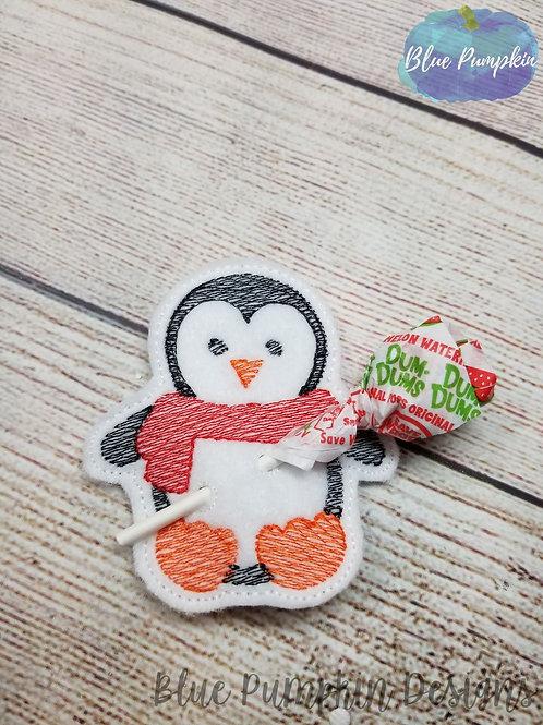 Penguin Lollipop/pencil Holder