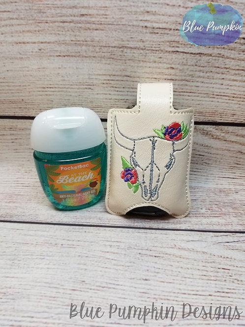 Cow Skull Hand Sanitizer Holder