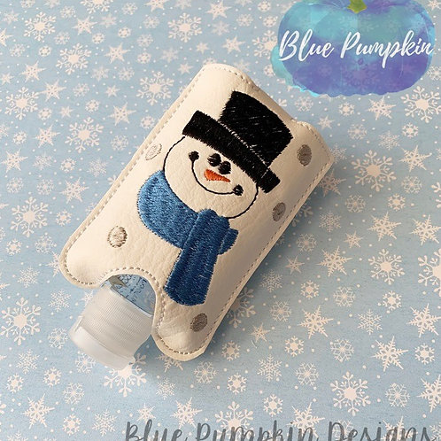 2oz Snowman Sani Bottle Holder