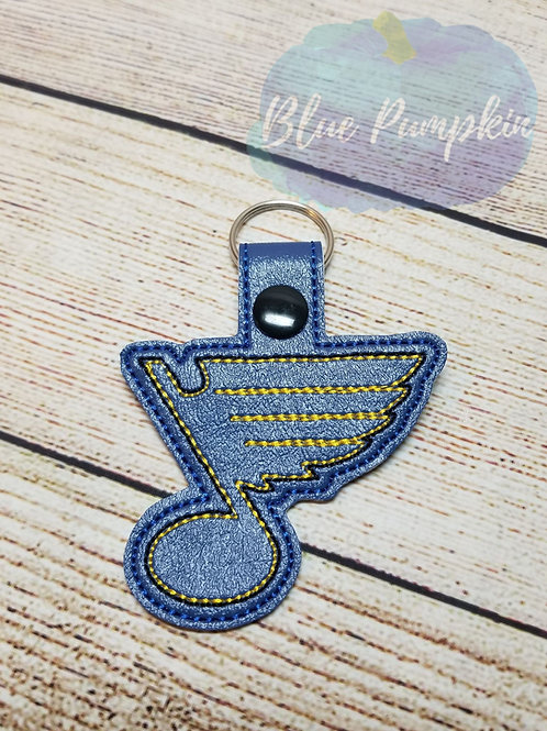 Blues Hockey Key Fob