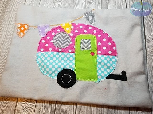 Shabby Chic Camper Pillow 8x12