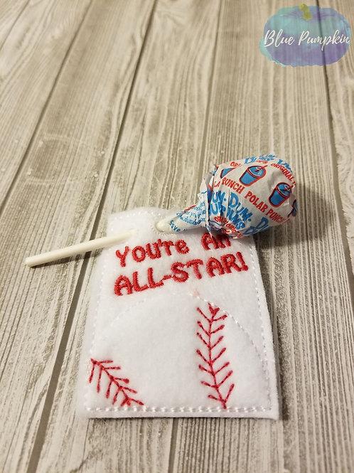 All Star Baseball Lollipop  Holder