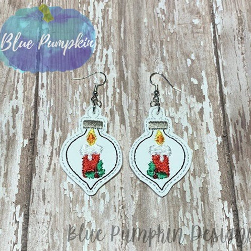 Candle Ornament Earrings