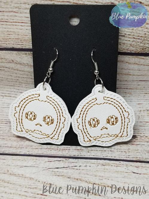 Gold Robot Earrings