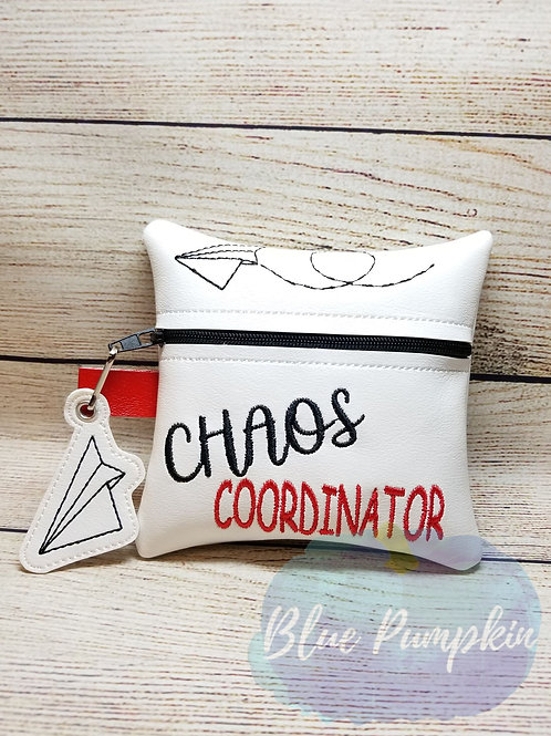 Chaos Coordinator 5x7 ITH Zipper Bag Design