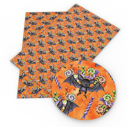 bats and Candy Printed Embroidery Vinyl