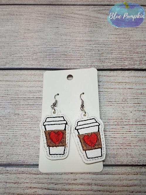 Heart Latte Earrings