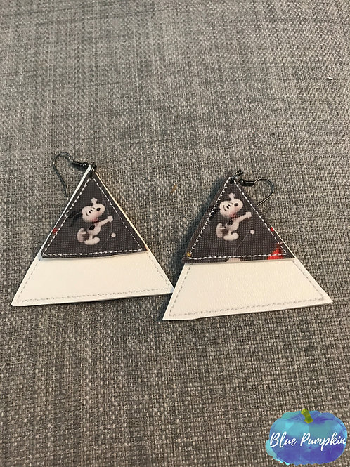 Double Triangle Earrings Design
