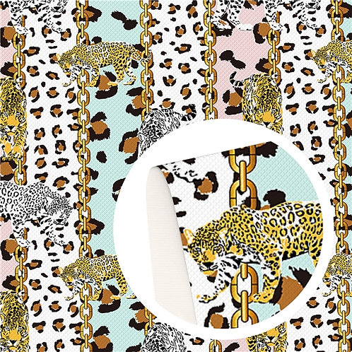Chains and Cheetahs Printed Embroidery Vinyl