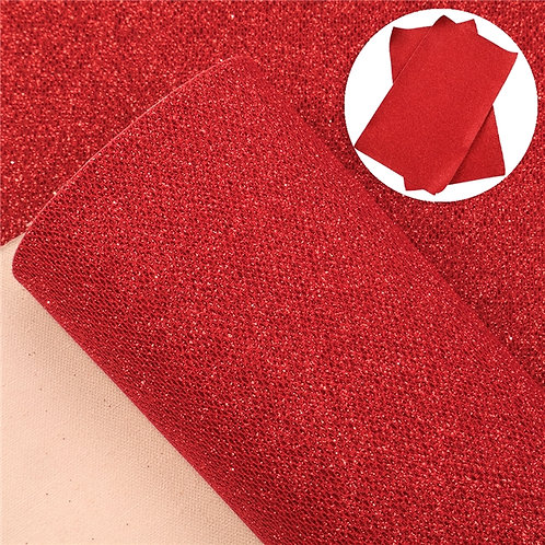 Red Glitter Honeycomb  Embroidery Vinyl
