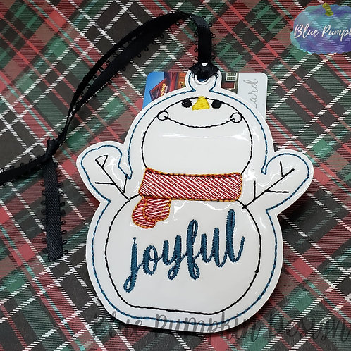 Snowman Ornament and Gift Card Holder