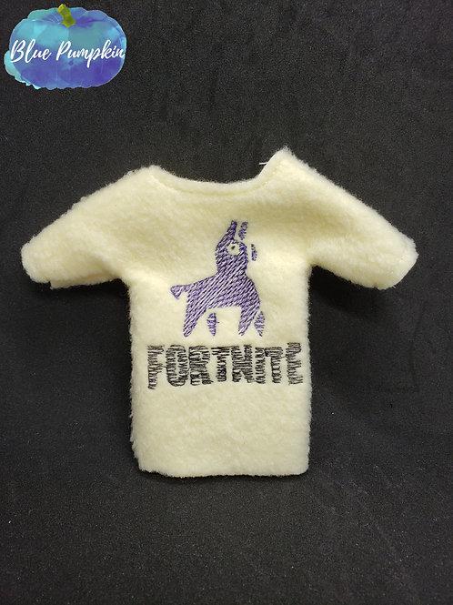 Llama Fortnite Elf Shirt