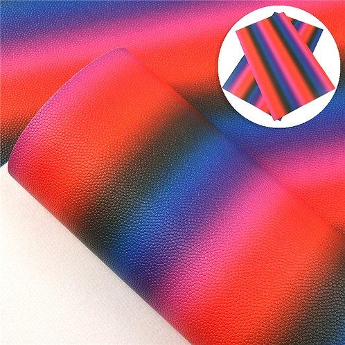 Orange Purple Blue Pink Ombre Embroidery Vinyl