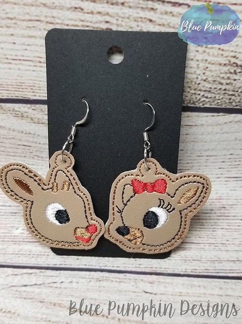 Reindeer Couple  Earrings