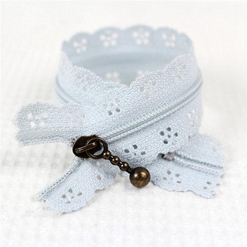 12in Gray Lace Zipper
