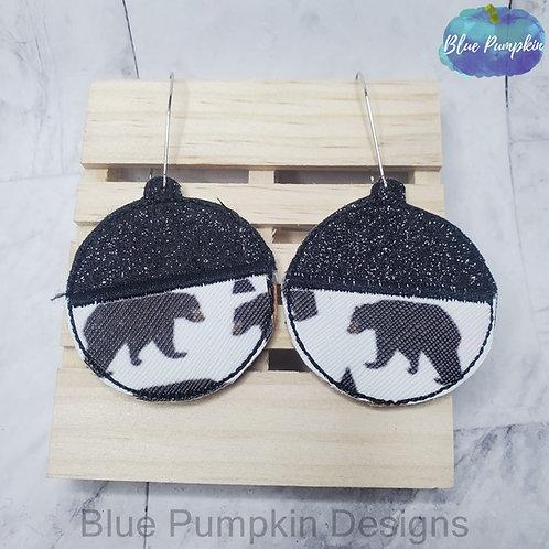 2 Piece Circle Earrings