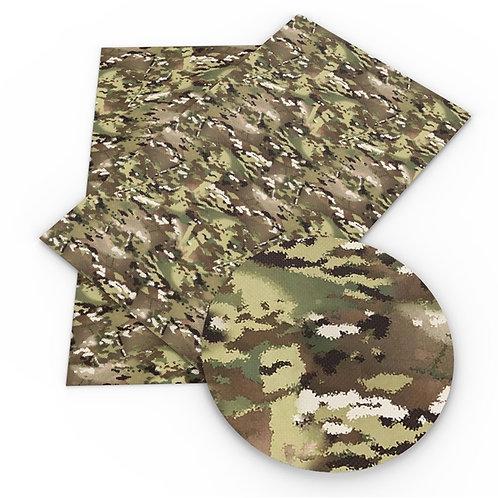 Digi Green Camo Printed Embroidery Vinyl