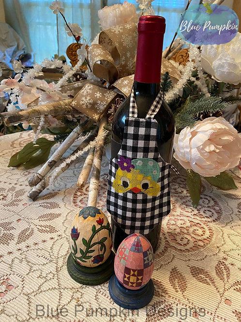 Chick w Easter Egg Bottle Apron