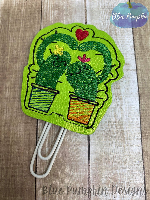Hugs Cactus Paper Clip Toppers