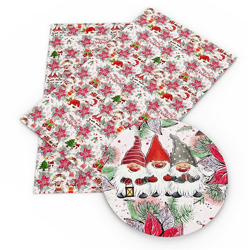 Horizontal Christmas gnomes and more Embroidery Vinyl