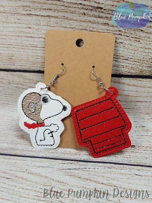Dog and Dog House Earrings