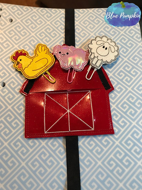 Barn Set Planner Band with Paper Clip Toppers