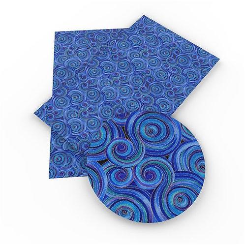 Blues of Swirls Embroidery Vinyl