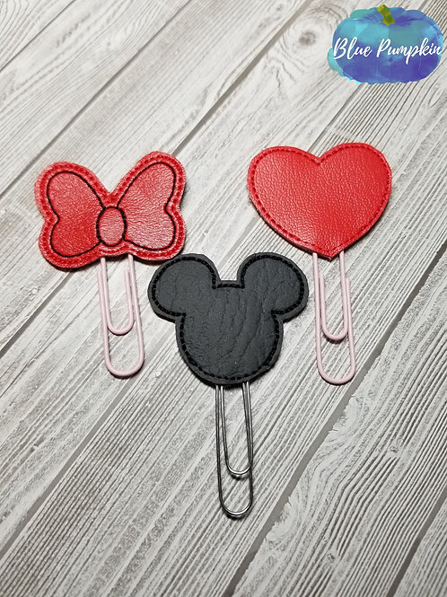 Girl Mouse Clips for Planner Band
