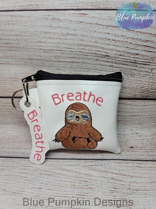 3 sizes Breathe Sloth Zipper Bag Design
