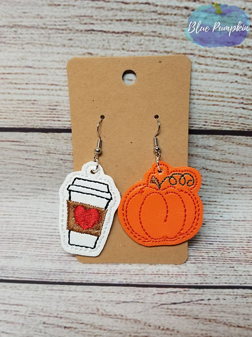 Coffee and Pumpkin Earrings