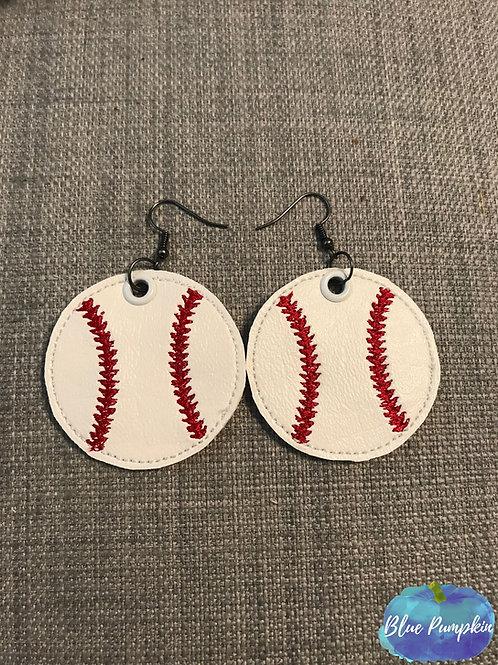 Baseballs ITH Earring Design
