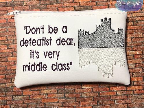 Defeatist Dear ITH Zipper Bag Design