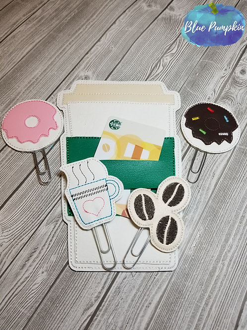 Coffee Cup Planner Band w Paper Clip Topper SET