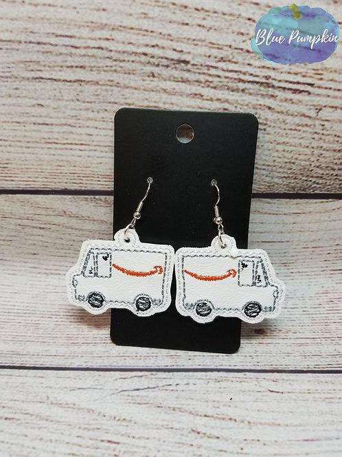 Orange Truck Earrings