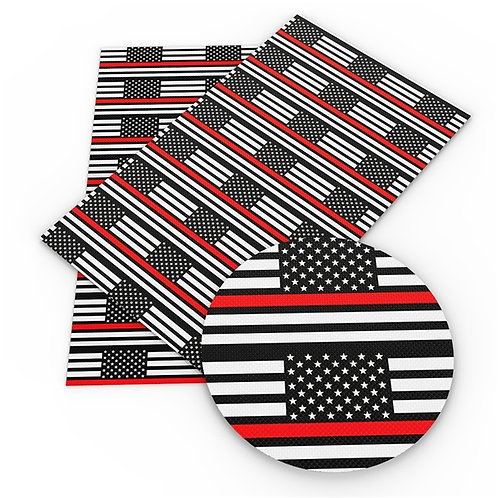 Flag Thin Red Line Embroidery Vinyl