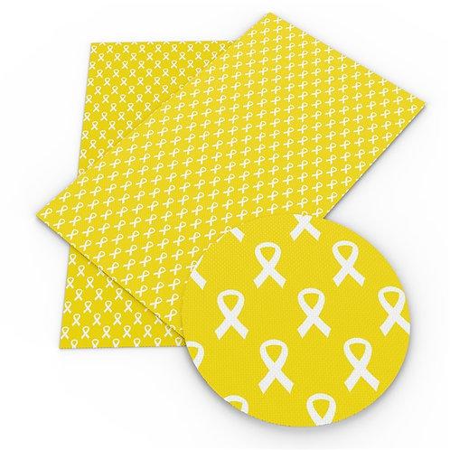 Yellow Awareness Ribbon Embroidery Vinyl