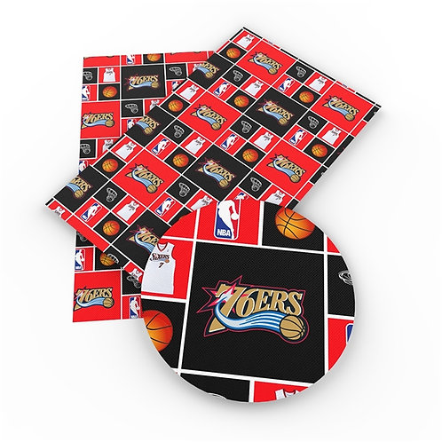 Squares 76'ers Embroidery Vinyl