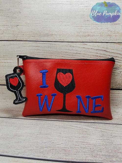I Love Wine TH Zipper Bag Design