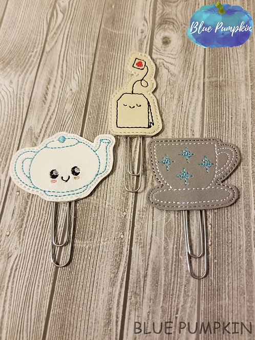 Tea Paper Clip Toppers