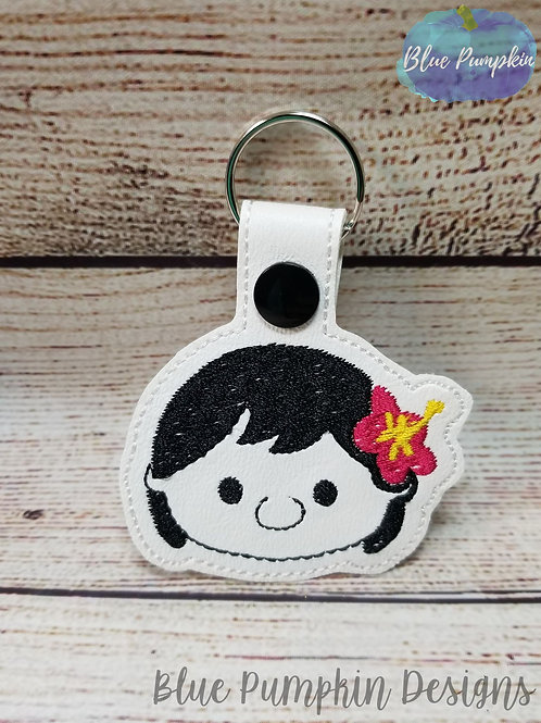 Hawaiian Girl Key Fob