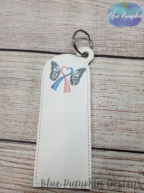 Butterfly Awareness Ribbon Chapstick Holder